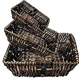 Wood Chip Baskets Group of 3 (Set of 10)(30 Baskets)
