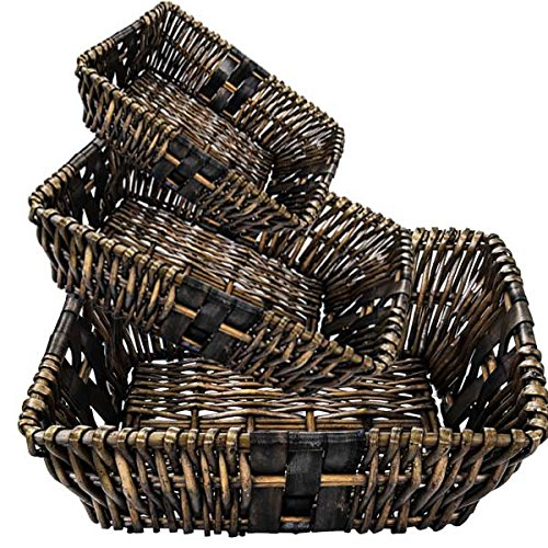 Wood Chip Baskets Group of 3 (Set of 10)(30 Baskets) by suppliesforgiftbasket