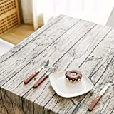 TRE Outdoor wood bark-like striped cotton/tea table/meal table table cloth/ linen tablecloth-A 120x240cm(47x94inch)