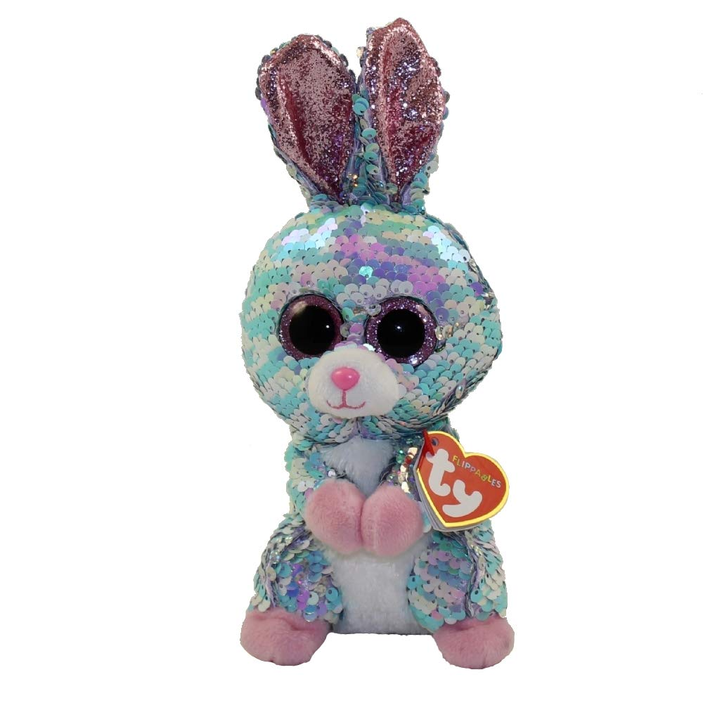 Ty Raindrop - Bunny Sequin reg, Multicolored, 6 inches
