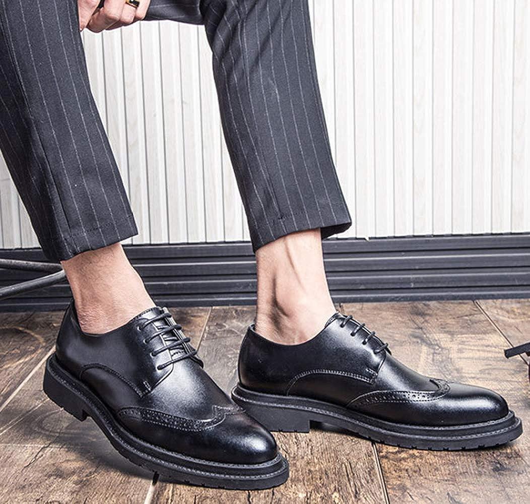 MYXUA Herren Klassische Brock Schuhe Geschäft Schuhe Casual Schuhe Geschäft schwarz schwarz e51401