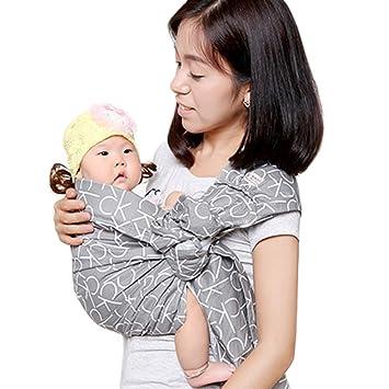 34e57e972ab Cuby bébé Sling Carrier allaitement Coque Echarpe de mains libres  d allaitement et de couchage