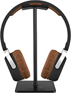 iKNOWTECH Headphone Stand Aluminum Holder for Microsoft Xbox One Chat, Turtle Beach Recon 50X/50P/Beach XO One Stereo, KingTop Each G2000, Sony Playstation Wireless Stereo Headset & More(BK)