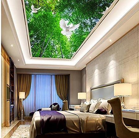 Wapel Bamboo Blue Bedroom Ceiling 3d Wallpaper Modern For Living