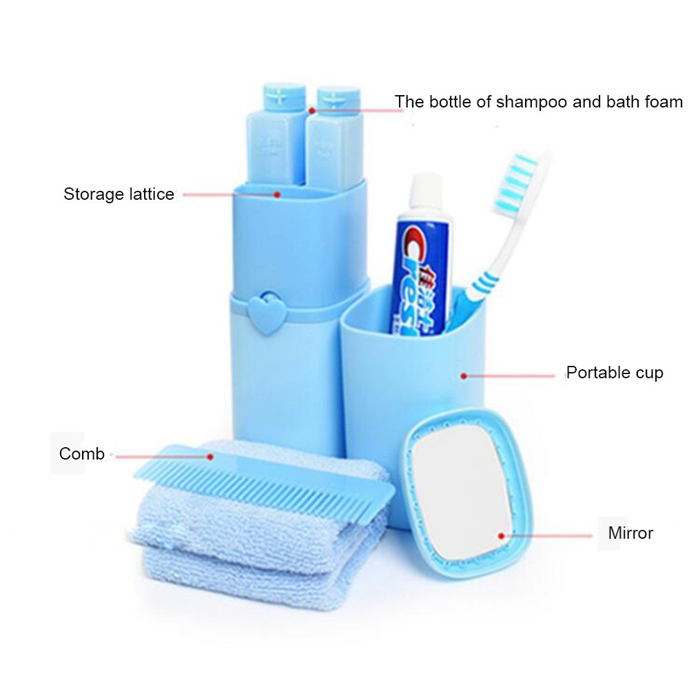 Amazon.com: Wekity Toothbrush Holder Portable Multi-function Receive Cassette Cover Outdoor Travel Toothbrush Cup Set Wash Portable Toiletry Toothbrush ...