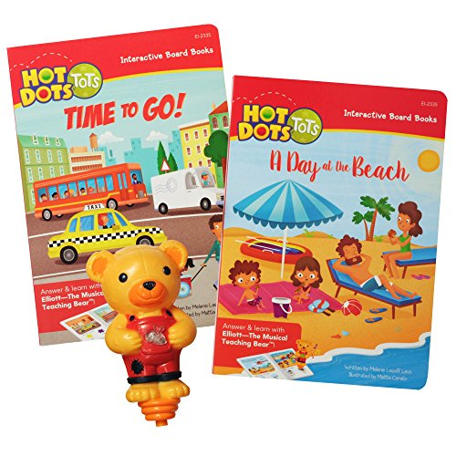 Educational Insights Hot Dots Tots All About Vehicles Interactive Board Book Set with Elliott Pen