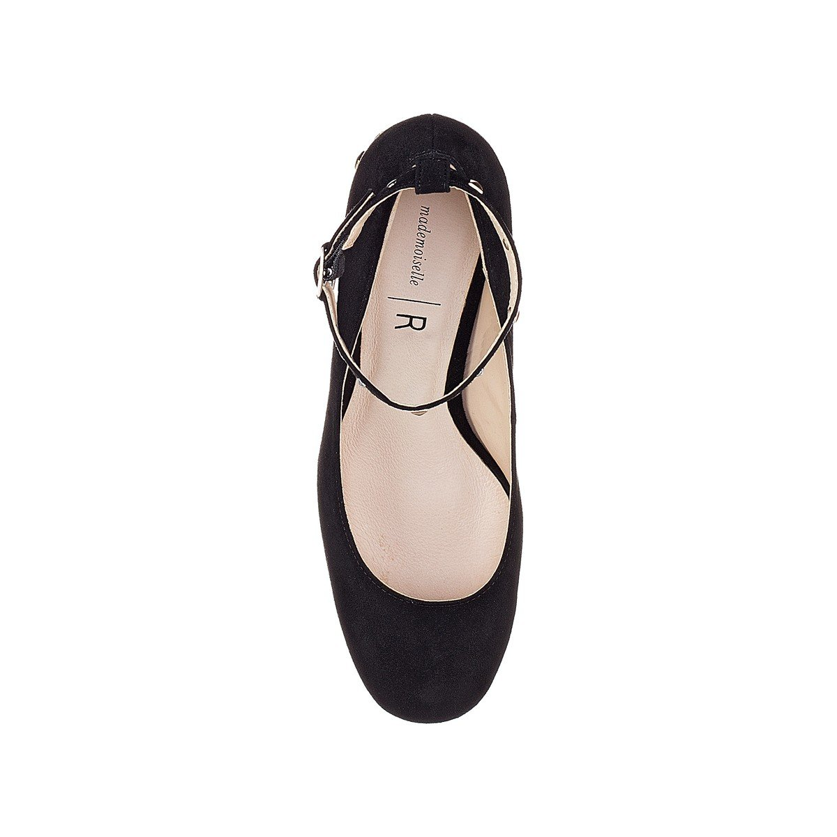La Redoute Collections Womens Studded Heel Ballet Pumps