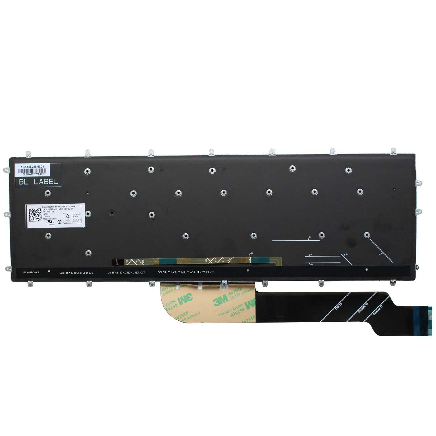 AUTENS Replacement US Layout Keyboard for Dell Inspiron 5565 5567 5570 5575 7566 7567 7577 5765 5767 5770 5775 7773 7778 7779 Laptop No Frame White Backlight 1 Year Warranty