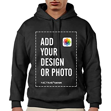 Amazon com: Personalized Custom Hoodies Sweatshirt Men Design Your