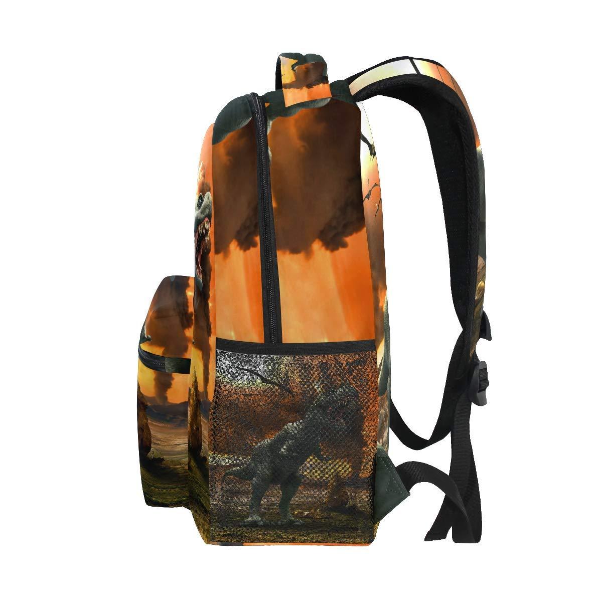 Mochilas Jurassic Park 3D Dinosaur Kids School Bookbags Laptop Travel Daypack Bag Purse for Boys