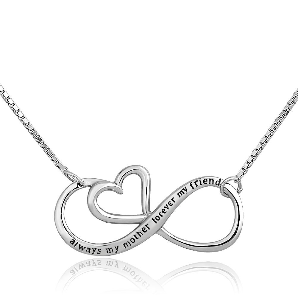 Métal: Alliage 'Always My Mother Forever My Friend' Collier en argent sterling Pendentif pour Mom CharmSStory CharmSStory_CSA_PDSS_HC43