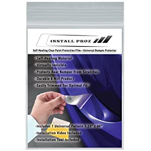 Install Proz Self-Healing Clear Paint Protection--Rear Bumper Protector