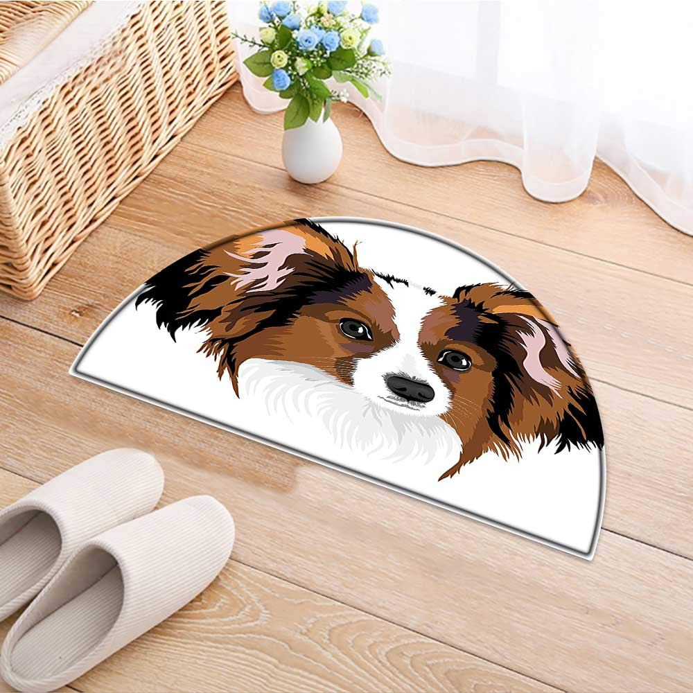 Print Area Rug Cute Smart Adorable Best Friend Dog Movie Pet Cartoon Artwork Image Cinnamon Black Perfect for Any Room, Floor Carpet W43 x H30 INCH