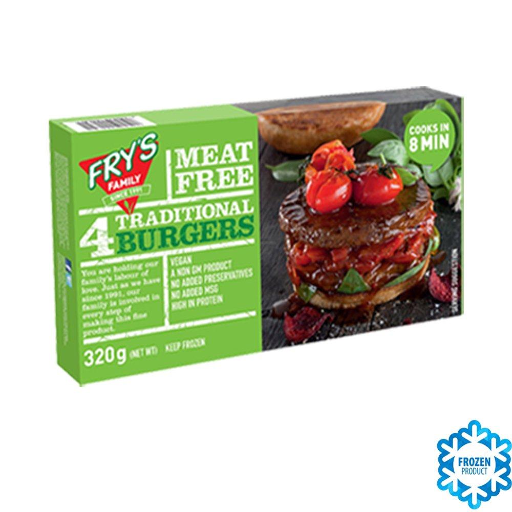 Frys Family HAMBURGUESAS TRADICIONALES (VEGANO) 320 GR (Pack de 2): Amazon.es: Alimentación y bebidas