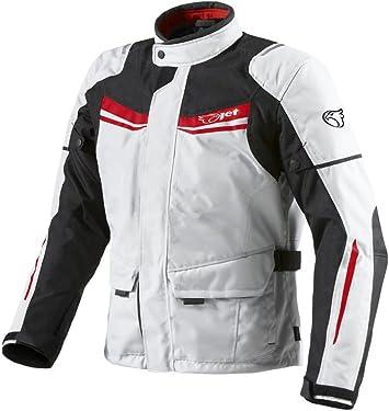 Jet Motorradjacke Herren Mit Protektoren Textil Wasserdicht Winddicht Aquatex Xl Eu 52 54 Weiß Rot Auto