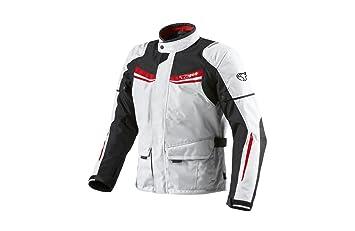 JET Chaqueta Moto Hombre Textil Impermeable con Armadura Aquatex (3XL (EU 56-58), Blanco Rojo)