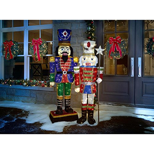 72IN 240L LED TINSEL NUTCRACKER by Home Accents Holiday (Image #1)