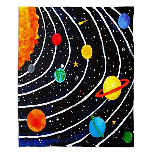 DiaNoche Fleece Blankets Soft Fuzzy 4 SIZES! by Nicola Joyner Njoy Art - Solar System - Toddler 40'' x 30'' by DiaNoche Designs