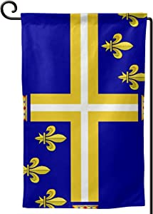 """COMEUP Alternate Military French Kingdom Flag Garden Flag for Celebration,Festival,Home,Outdoor,Garden 12.5""""X18""""in (Double Sides)"""