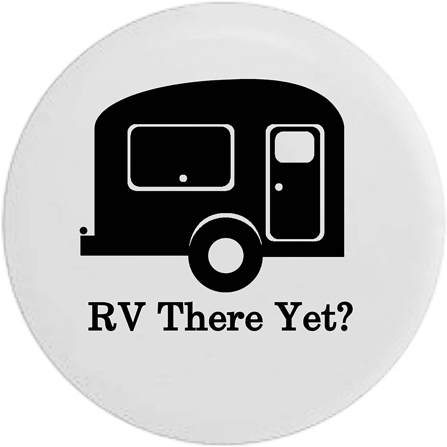 Pike Camo TravelCamper Trailer RV Spare Tire Cover OEM Vinyl Black 27.5 in RV There Yet