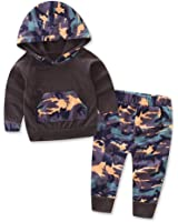 wuyimc infant baby boys camouflage hoodie tops long pants outfits set clothes