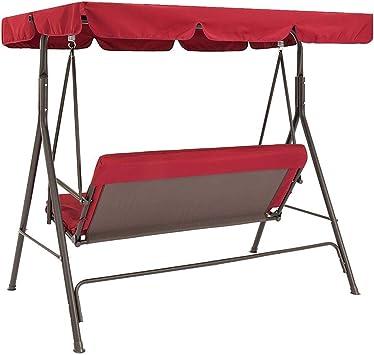 impermeabile Lumpur 140 x 120 x 18 cm colore: Rosso Set di 2 pezzi di ricambio per sedie da giardino protezione antipolvere universale per tettoia a 3 posti