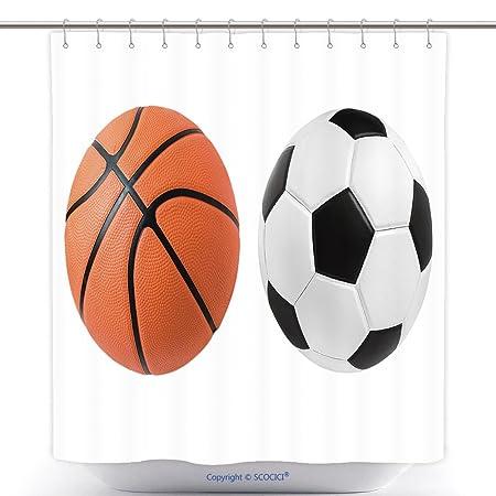 Cortinas de ducha de poliéster y balón de fútbol Baloncesto Ball ...