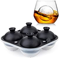Samuelworld Large Sphere Ice Tray Mold Whiskey Big Ice Maker 2.5 Inch Ice Ball for Cocktail and Scotch