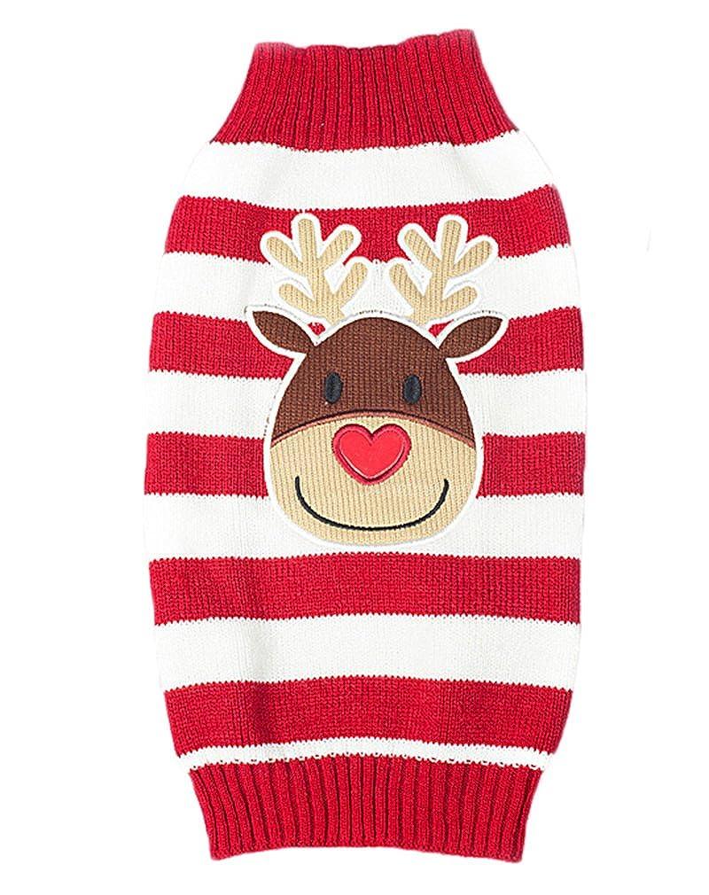AIYUE/® Ropa Mascotas Su/èter Jersey Camiseta Caliente Lana de Punto Traje Navidad Fiesta Chaleco Invierno para Perros Peque/ños Cachorros