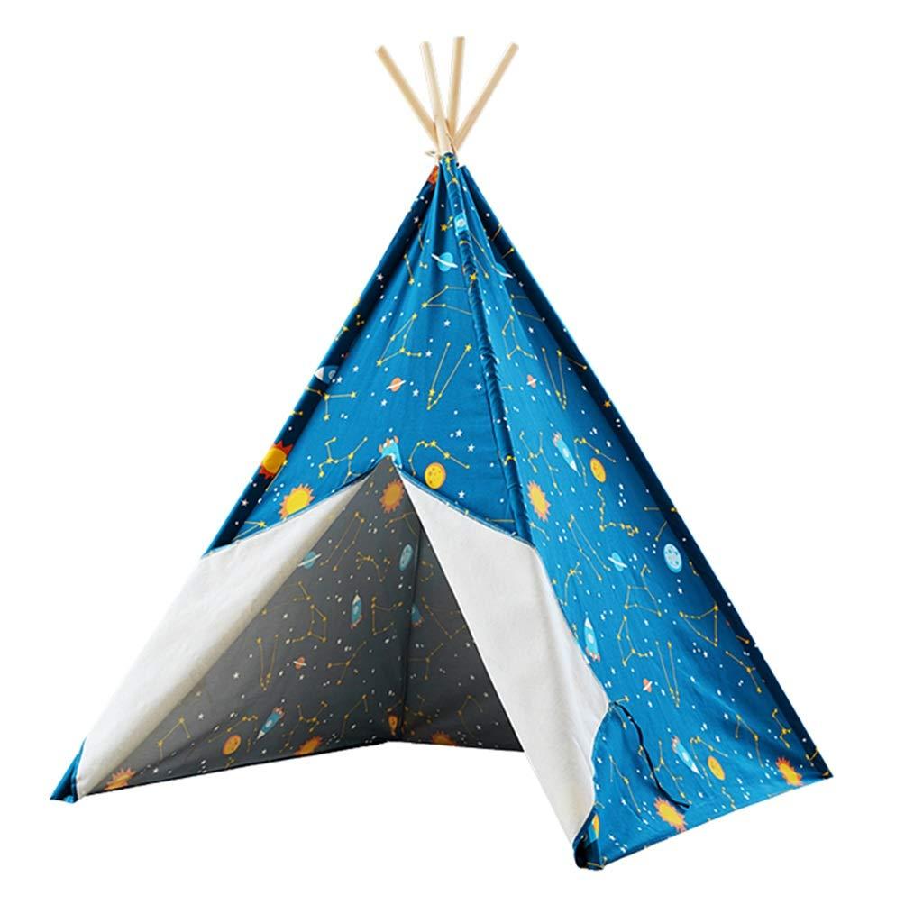 子供用のテント屋内用ゲームのテントゲームハウス|男の子のおもちゃの家子供部屋の装飾屋外の子供用プレイテント最高の贈り物 キッズテント (Color : Blue, Size : Tent+mat) B07P9FR43K Blue Tent+mat