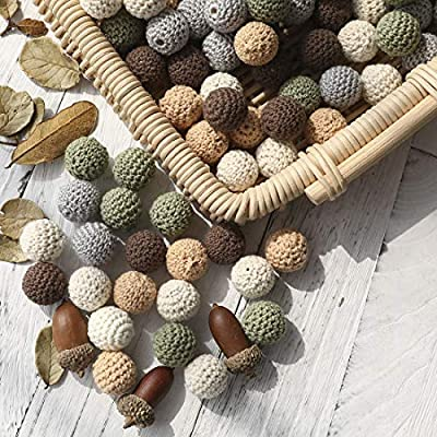 20mm 50pc Wooden Crochet Beads DIY Teething Necklace Bracelet Accessories for Making Baby Teether Toy : Baby