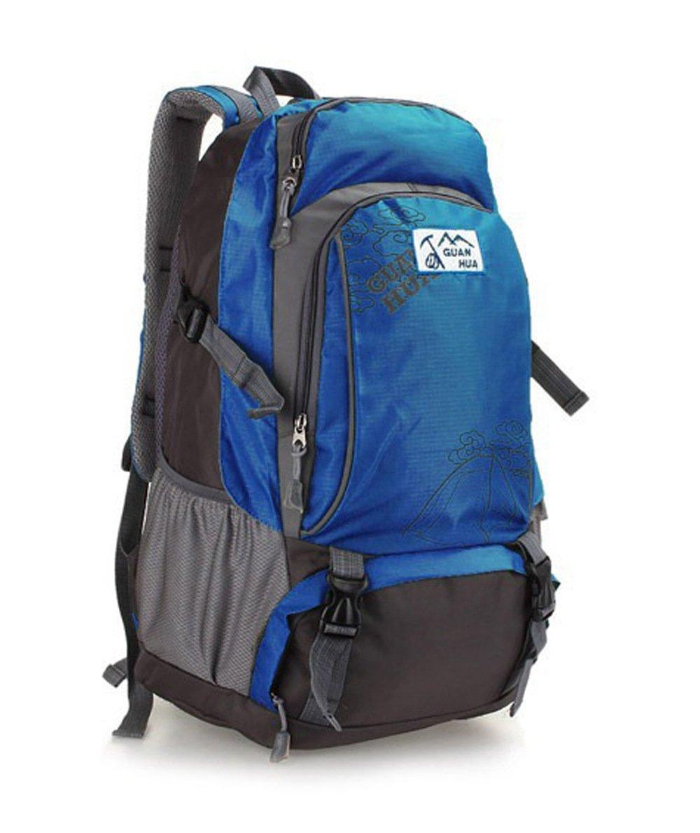 Minla大容量バックパックハイキングトレッキングリュックサック旅行防水登山バックパックメンズレディース5色 B07CTK9CJC ブルー