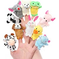 Saanviio Animal Finger Puppet Soft Toys Puppet for Baby Boy and Girl