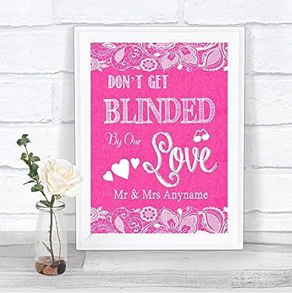 Color rosa brillante yute encaje no Cegado gafas de sol con ...