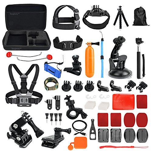 Toughsty™ 48-in-1 Action Camera Accessories Bundle Kit for GoPro Hero 5 4/3+/3/2/1 Outdoor Sports Camera Accessories by TOUGHSTY