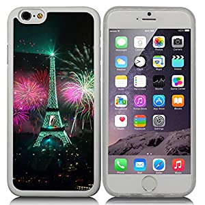 New Apple iPhone 6 s 4.7-inch CocoZ® Case Classic Paris Eiffel Tower Beautiful Night view TUP Material Case (Transparent TPU& Eiffel Tower 18)