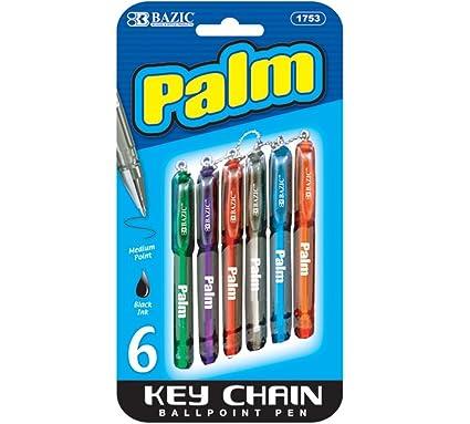 Bazic Palm Mini bolígrafo w/llavero (6/Pack) (caso de 24 ...