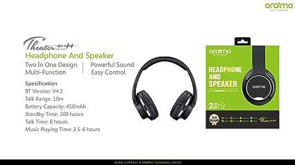 6d82529e456 Oraimo - Theater - Wireless Headphone & Speaker 2 in 1 Crisp Powerful Sound