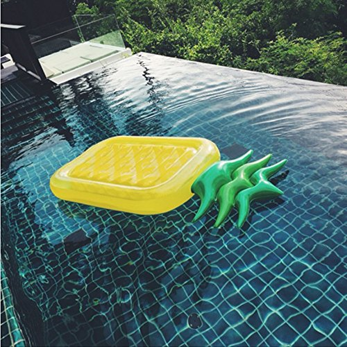 Fly Water Inflatable Pineapple Floating Row Bed Unicorn Cloud Swimming Ring Hammock Sofa Recliner Floating Bed Inflatable Floating Row by Fly (Image #4)