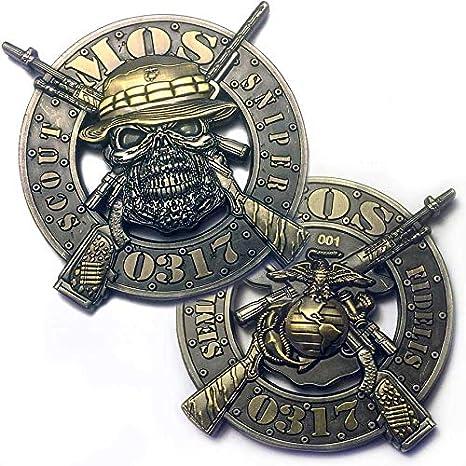 Amazon com : Vision Strike Coins USMC 0317 Scout Sniper MOS