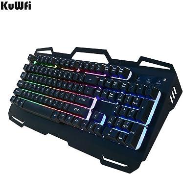 Teclado Gaming Teclado USB Gamer con cable 104 teclas Panel ...