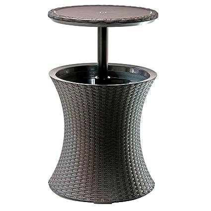 Amazon Com Nakshop Wicker Cooler Table Outdoor Cool Bar Patio