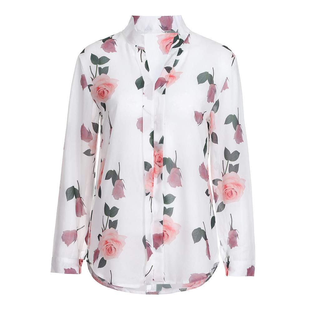 Pullover for Women Blouse Long Sleeve S-5XL Lady Floral Print Tops Sweatshirt
