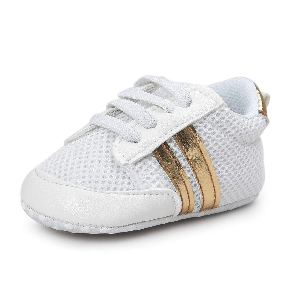 Lanhui Baby Shoes for Infant Toddler Boys Soft Bottom Anti-Skid Cloth Sports Shoe Gold