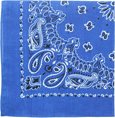 en Paisley Bandanas (Royal Blue - 27