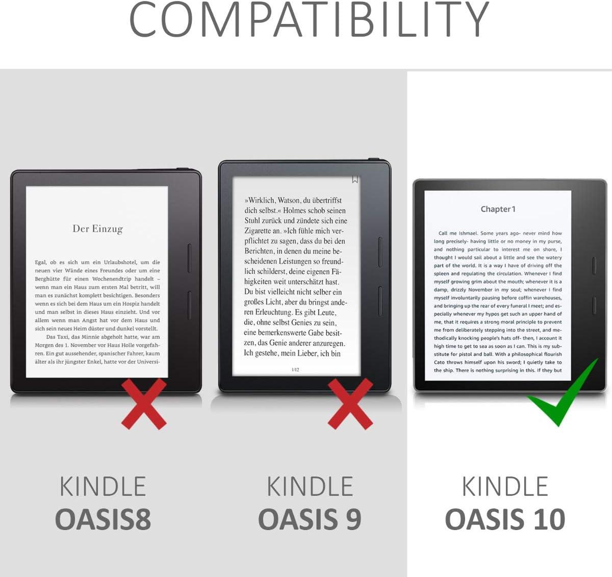 kwmobile Funda Compatible con Amazon Kindle Oasis 10. Generation ...