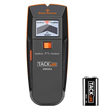 Stud Finder, DMS04 Stud Sensor, Edge Finding Electronic Wall Scanner, Multi-Functional Wall Detector, Wood Stud/Live AC Wire/Metal Scanner with LED/Sound Warning Indicator
