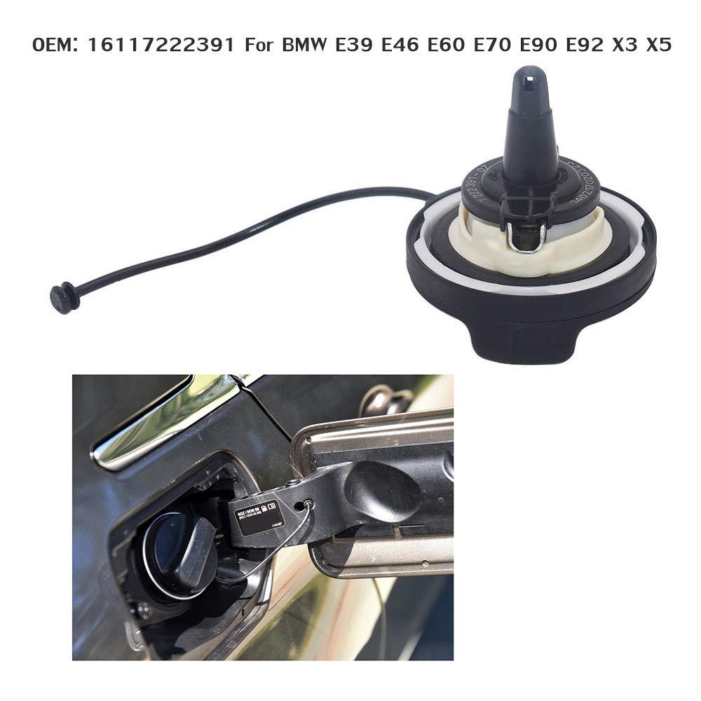 RONSHIN 16117222391 Bouchon de r/éservoir de Carburant pour BMW E90 E92 Noir