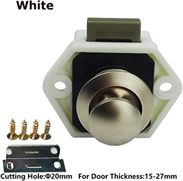 Encell Set of 5 Push Button Latch Cupboard for RV Camper Motor Home Caravan