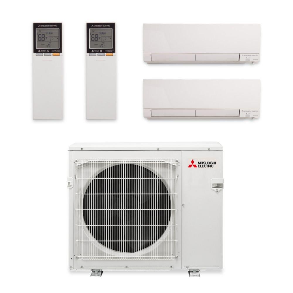 mounted air wall split muz msz mitsubishi ge kw series conditioners mxz cycle inverter reverse